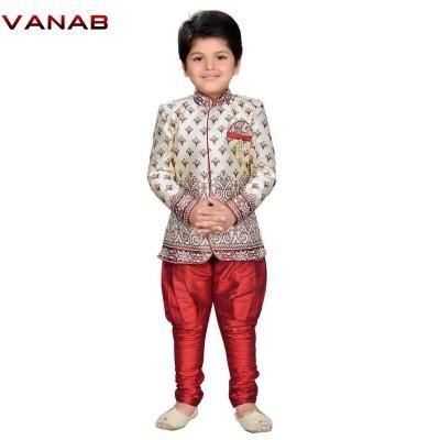 Art Silk Printed Sherwani With Pajama