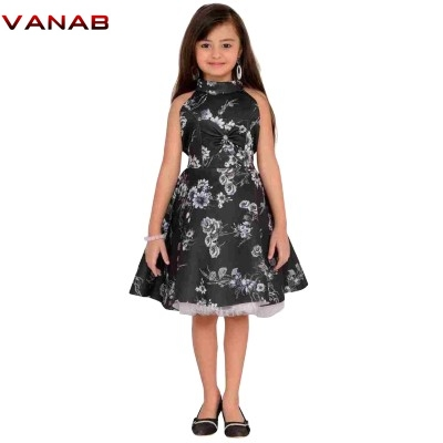 Viscose Floral Printed Girls Frock